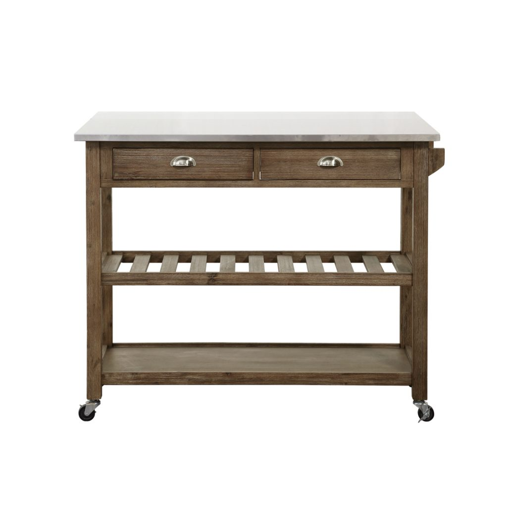 Drop Leaf Stainless Steel Kitchen Cart