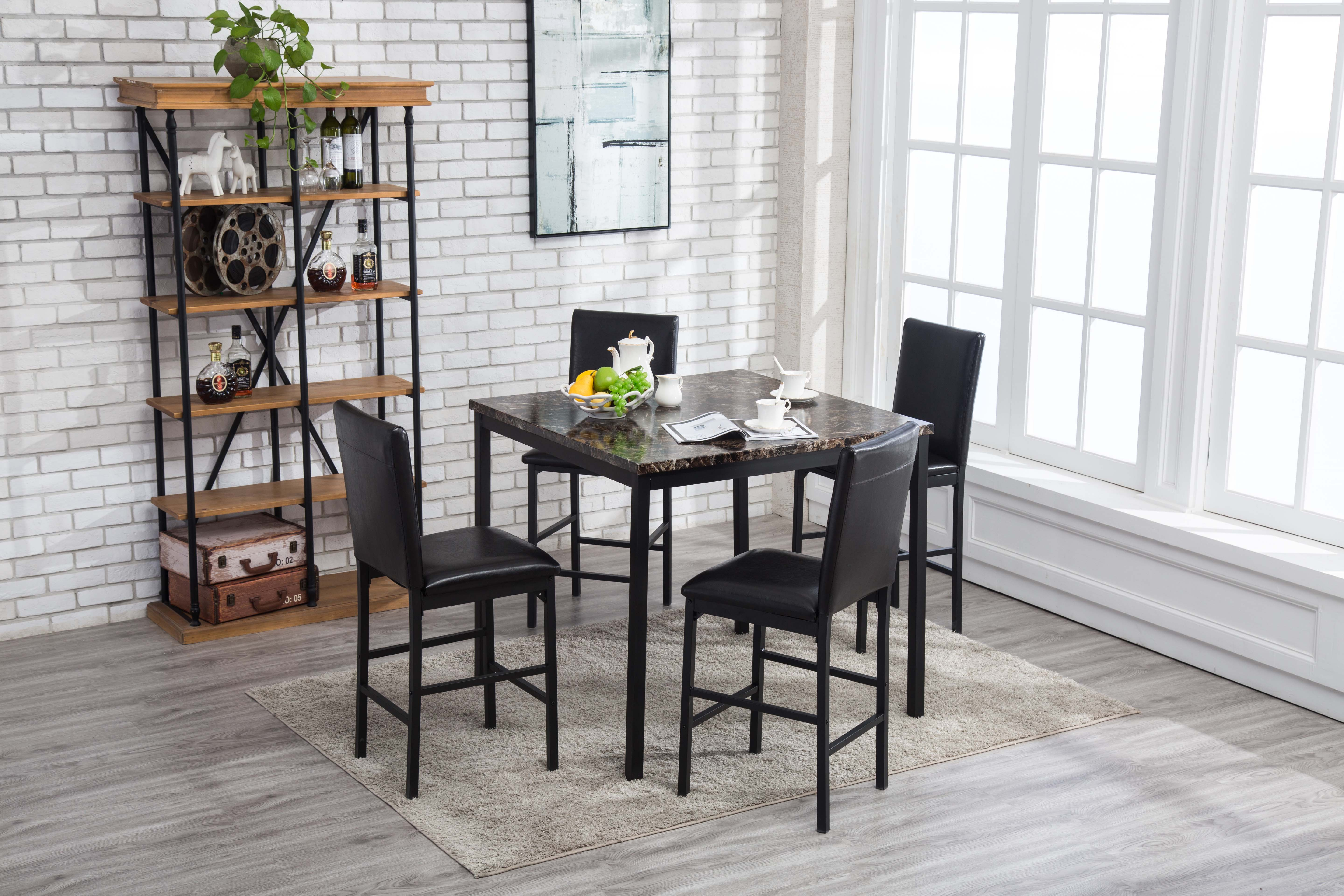 Arjen 5pc Counter Height Dining Set