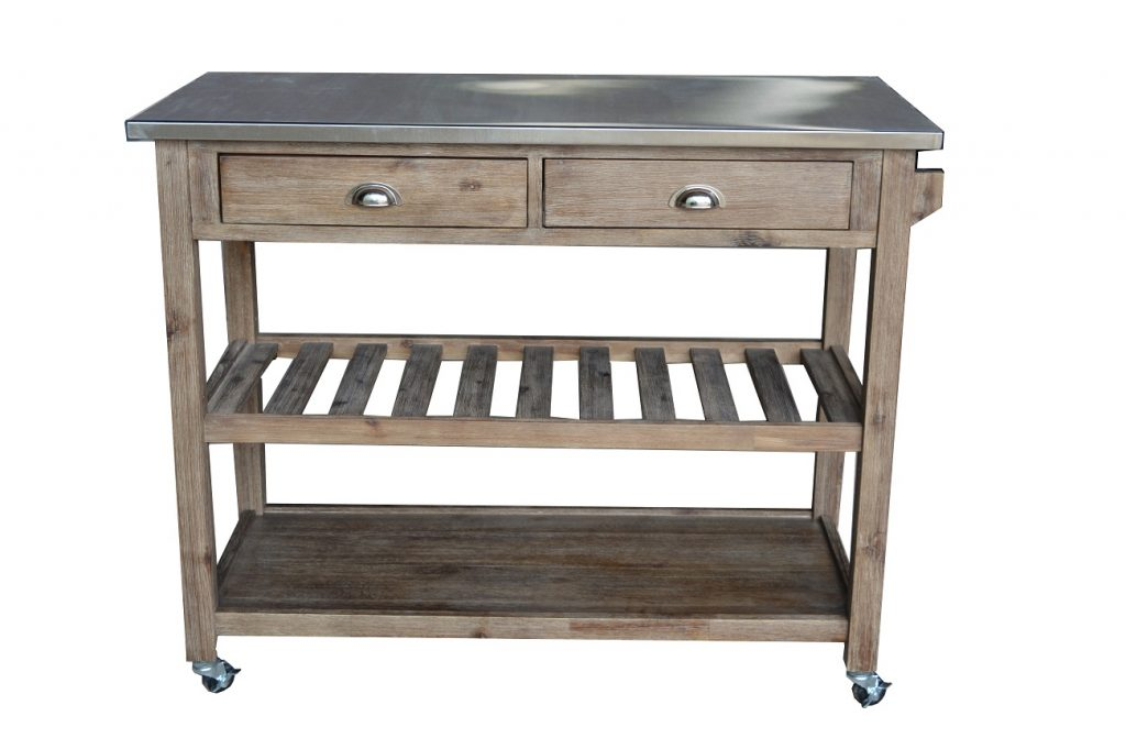 Sonoma Wire-brush Kitchen Cart